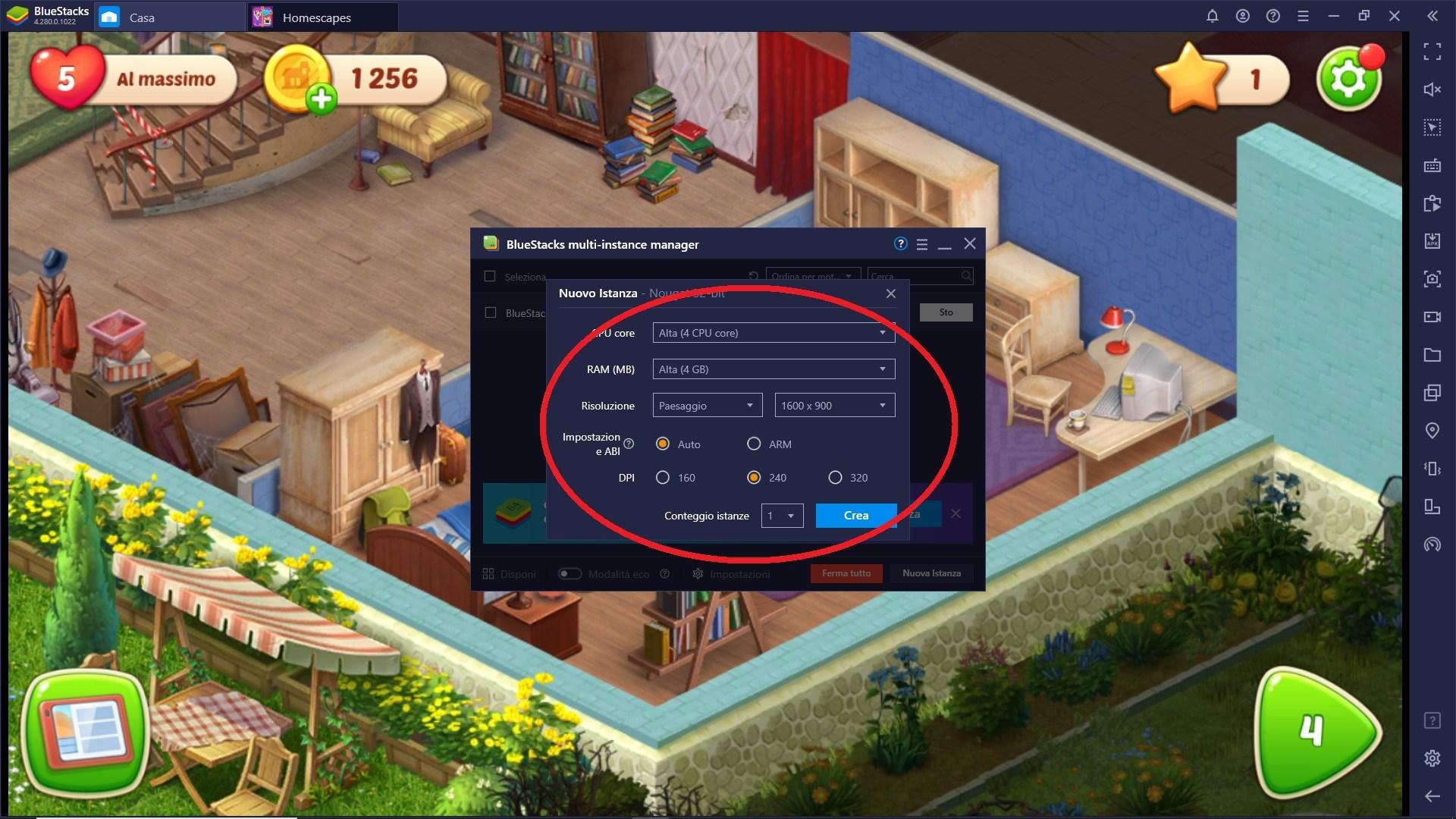 Sfrutta gli strumenti di BlueStacks per giocare al meglio Homescapes