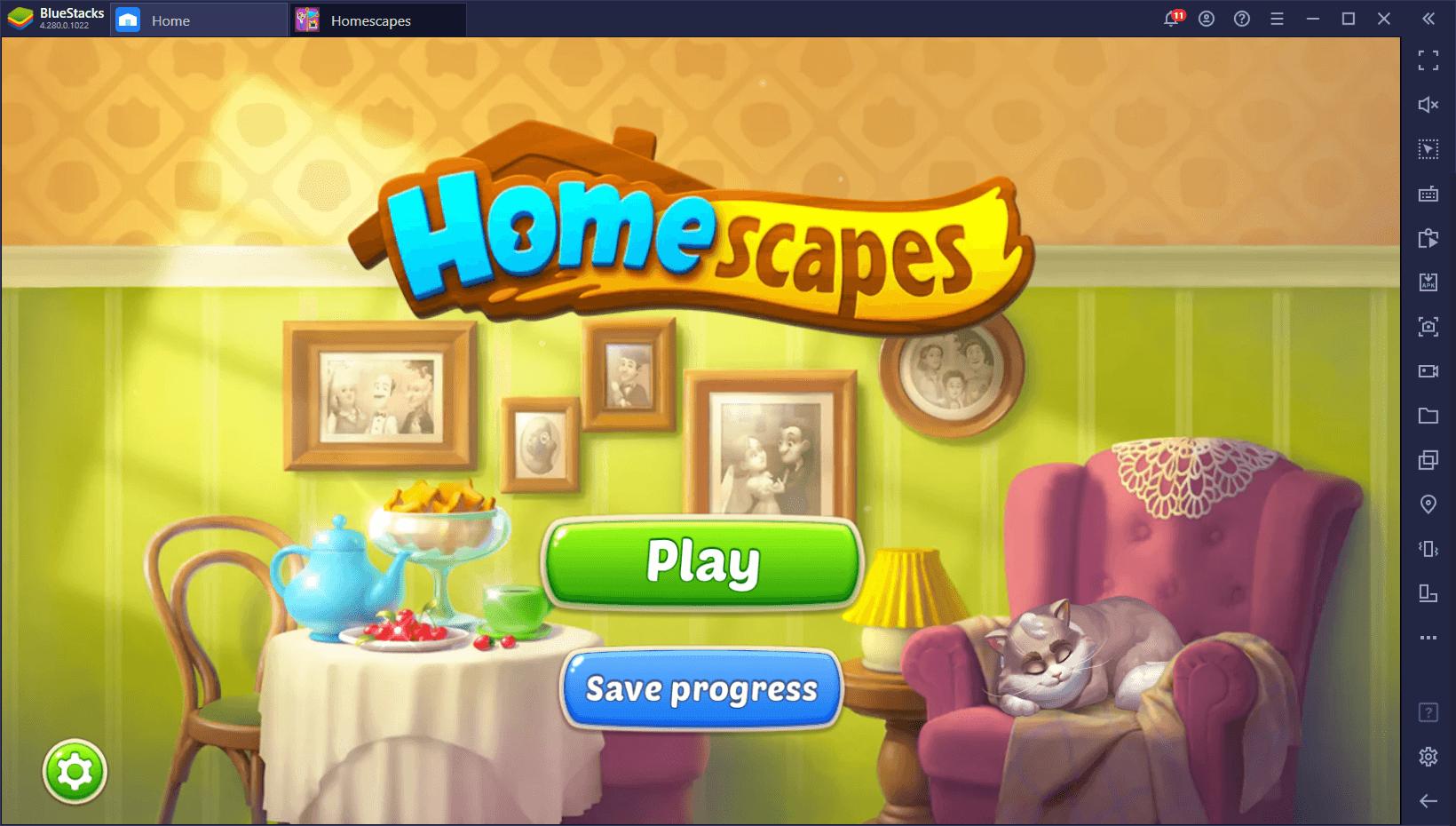 Homescapes – كيفية تثبيت و لعب لعبة المطابقة الثلاثيّة الشهيرة على جهاز الكمبيوتر