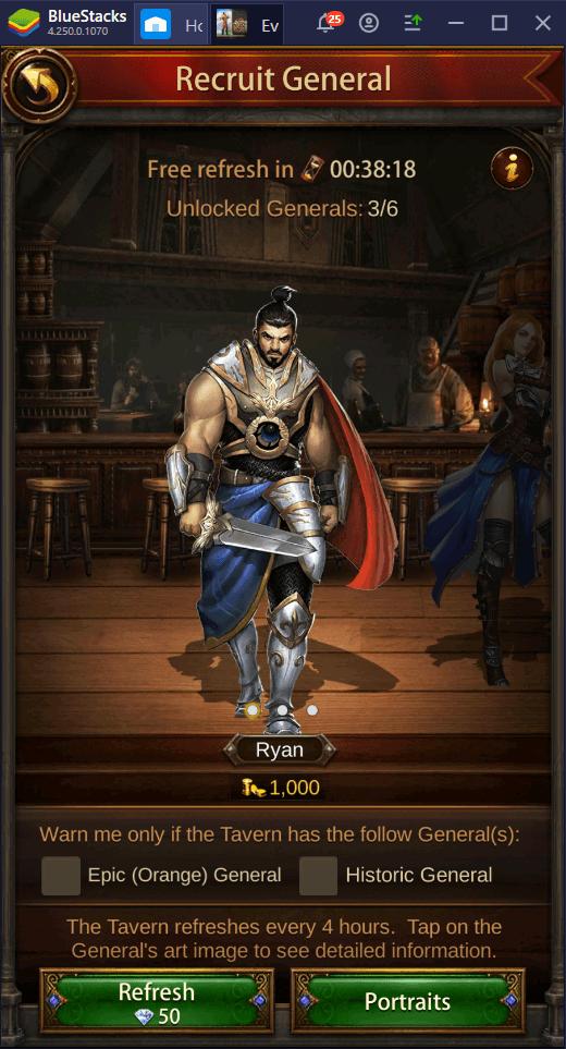 Cách xây dựng quân đội hùng mạnh trong Evony: The King's Return