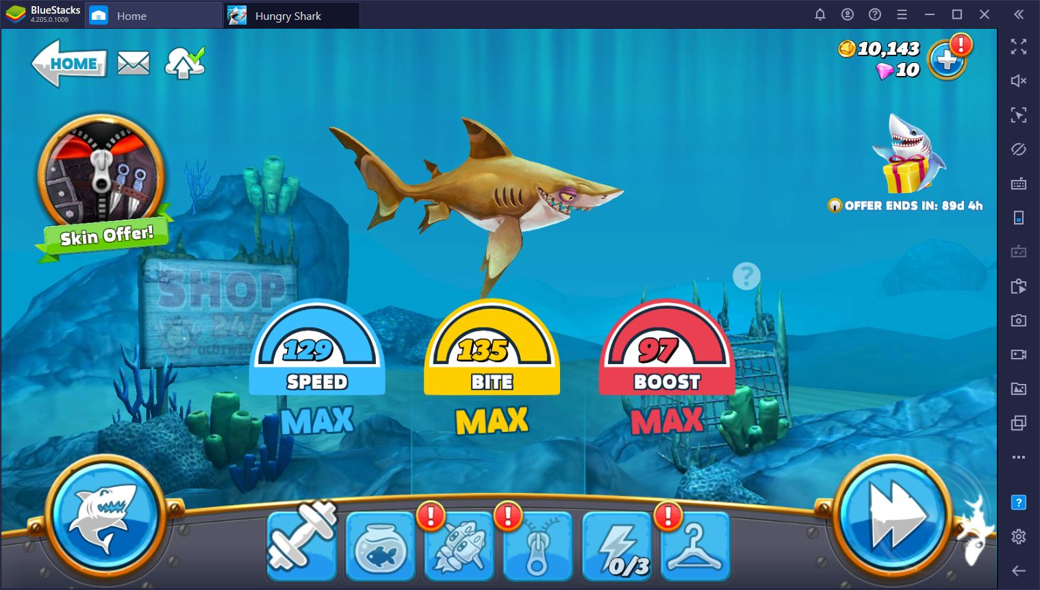 Hungry Shark World - A Guide on the Different Sharks and Size Categories
