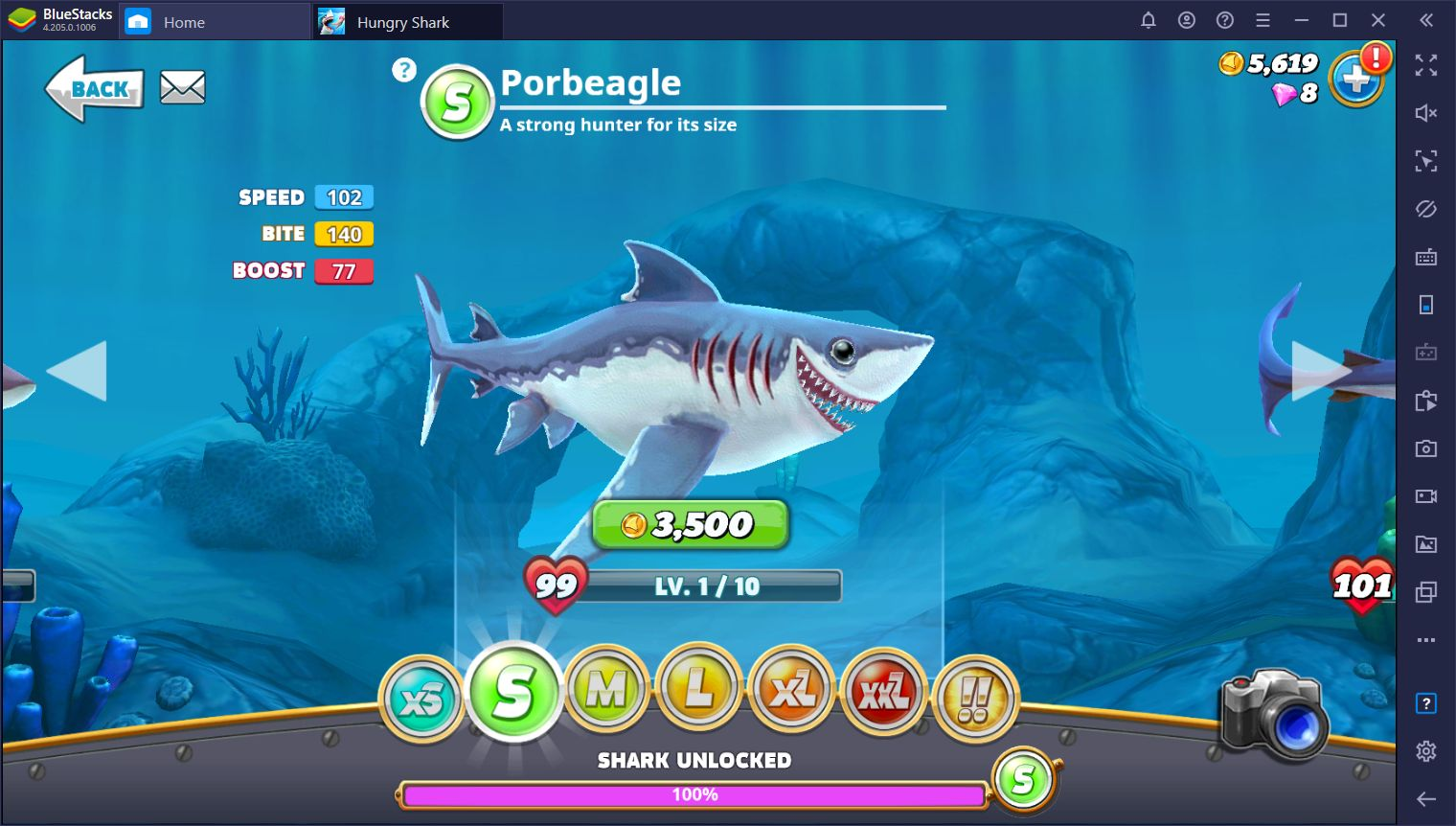 How to Play Hungry Shark World on PC