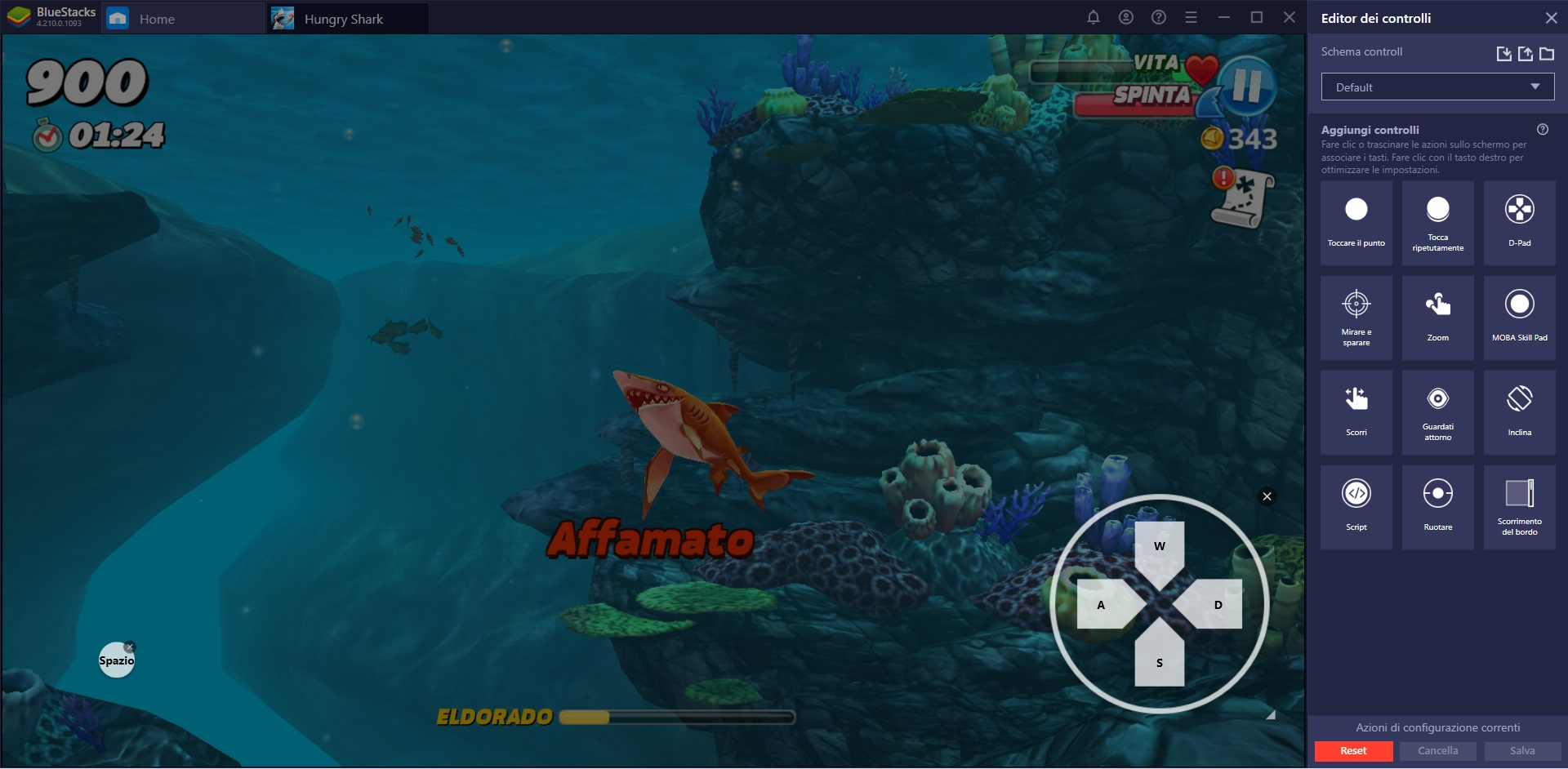 Hungry Shark World è disponibile su PC con Bluestacks
