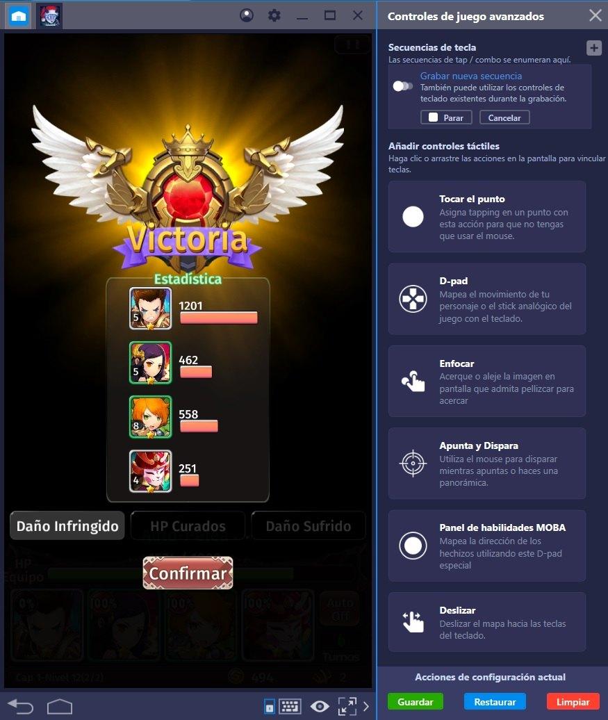 Eleva tu Juego en Hyper Heroes: Marble-Like RPG con la Tecla de Combo de BlueStacks 4