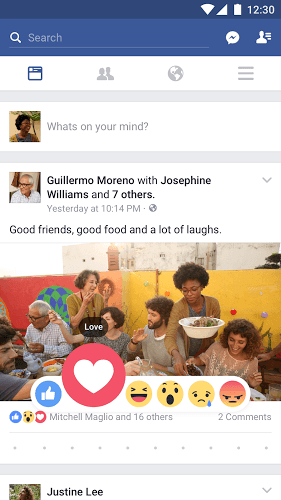 Jogue Facebook Android App on pc 1