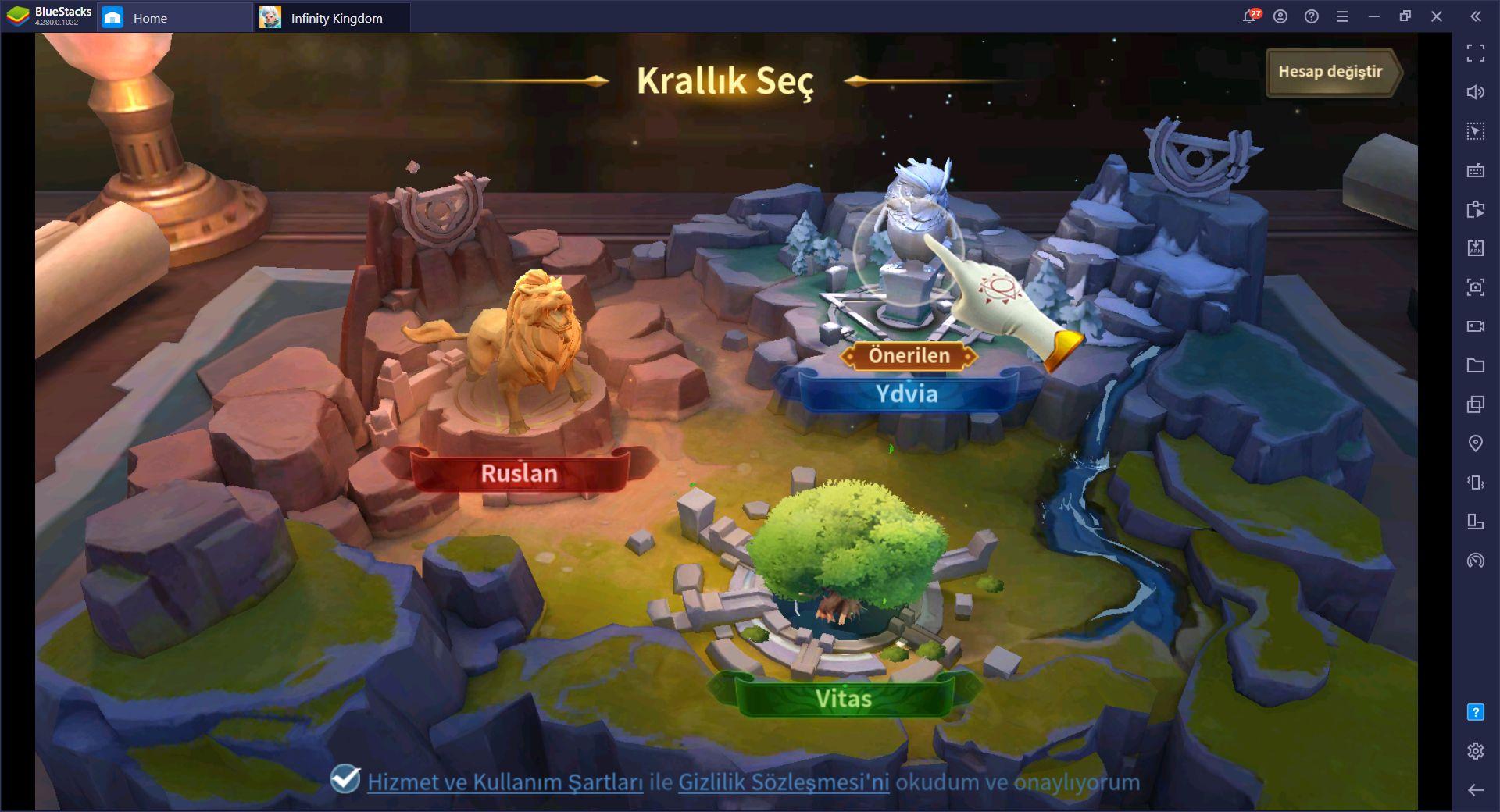 Infinity Kingdom Yeni Başlayanlar Rehberi