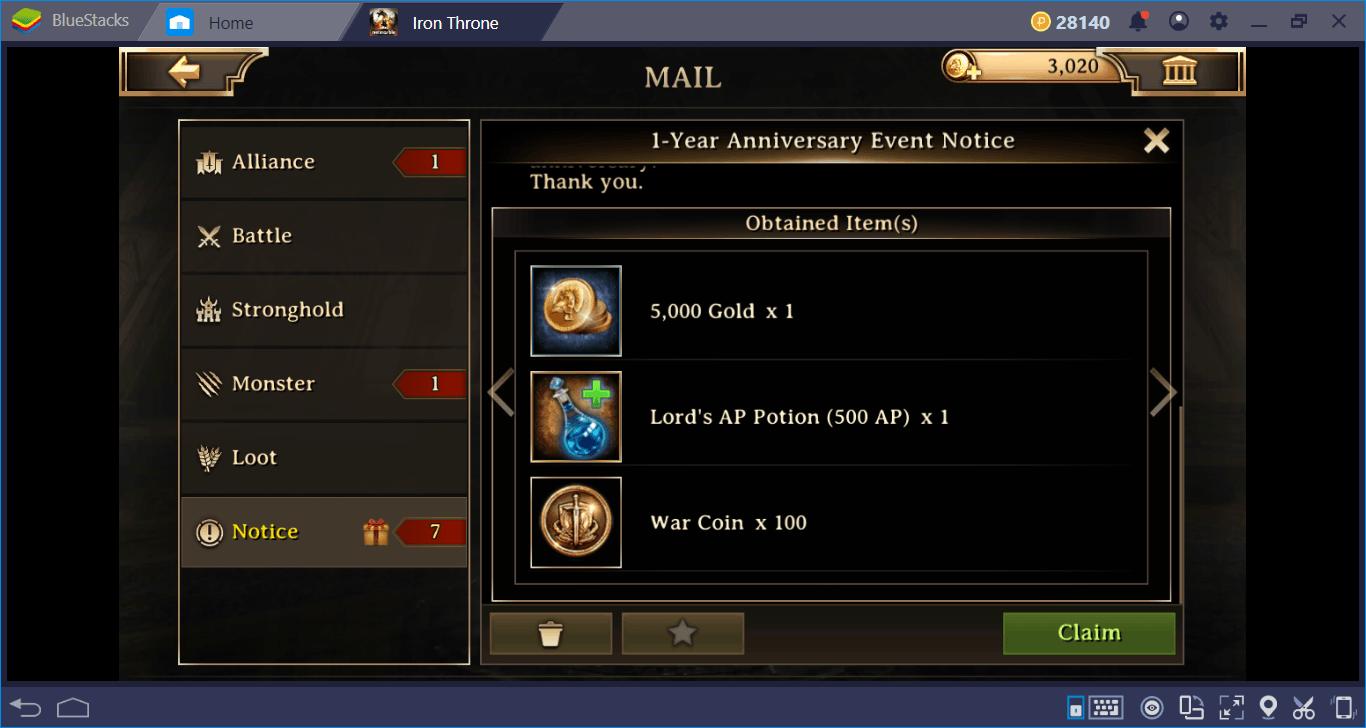 Celebrating 1-Year of Iron Throne on BlueStacks