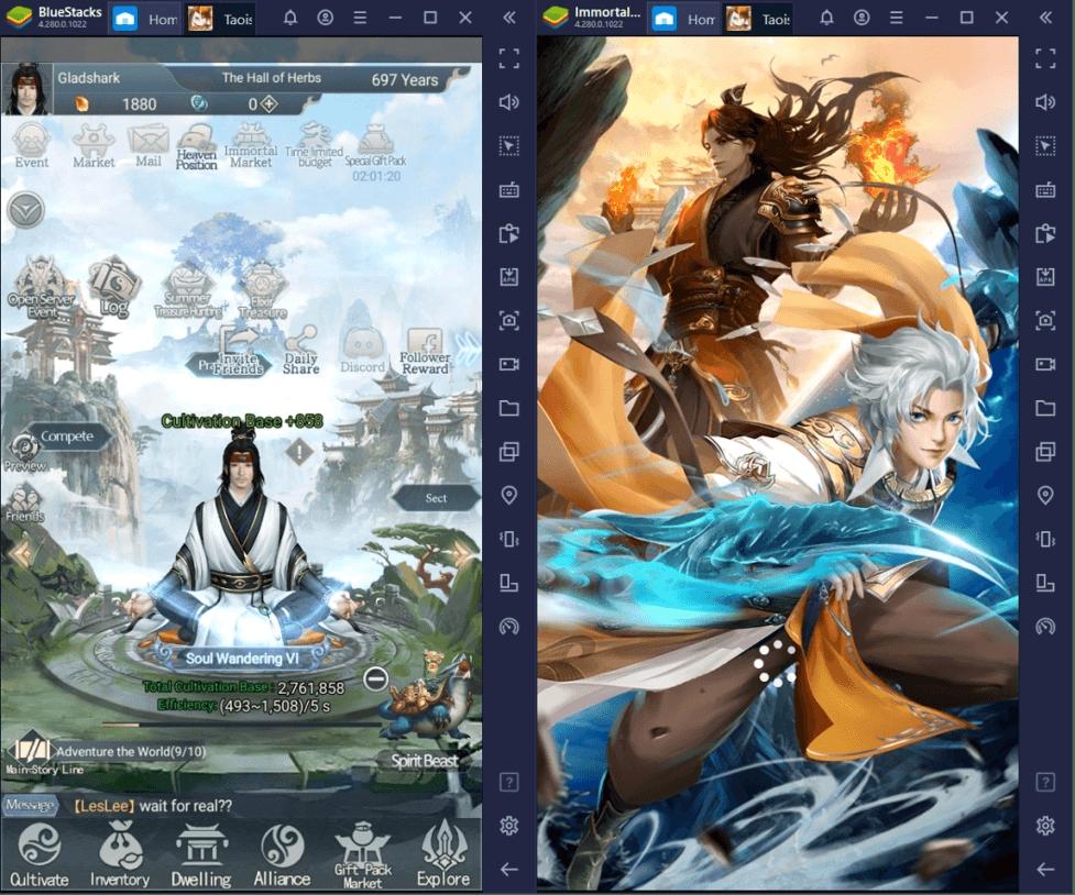 Comment Jouer à Immortal Taoists sur PC avec BlueStacks