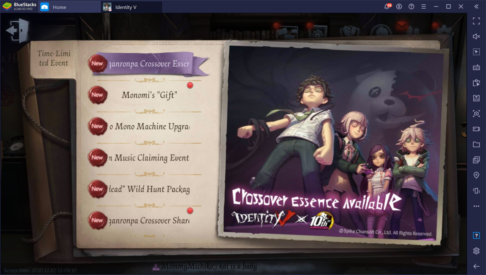 Identity V is Getting Another Danganronpa Crossover in December
