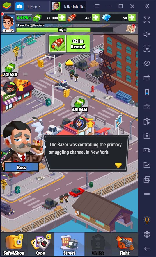 Idle Mafia - Tycoon Manager on PC: How to Get Started With Your Mafia Empire