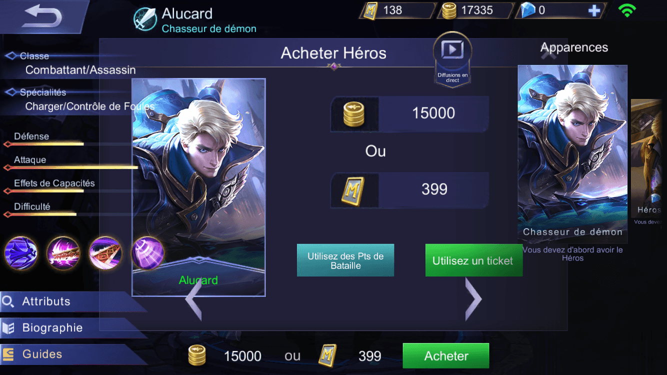 Mobile Legends Achat Fr