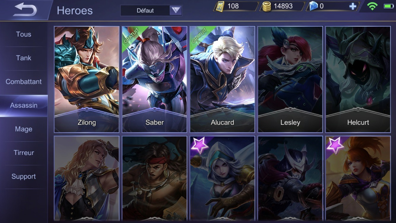 Mobile Legends Classes Fr