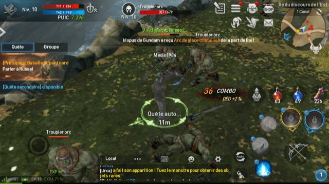 Lineage 2 Revolution Combat