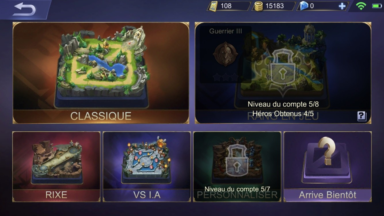 Mobile Legends Modes Fr