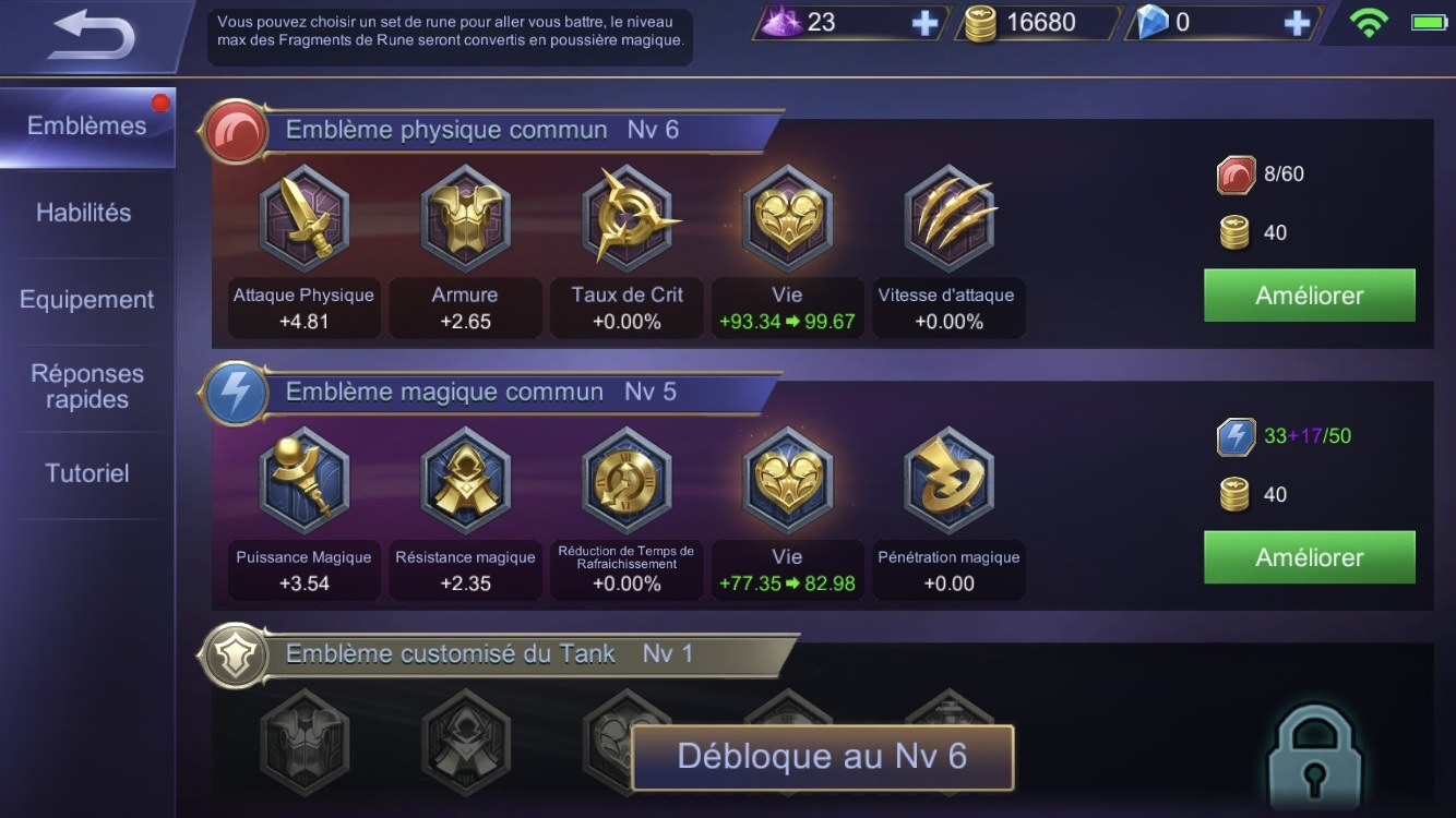 Mobile Legends Niveaux Fr