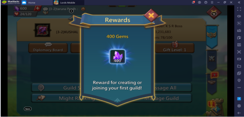 Lords Mobile: How to Get Free Gems?