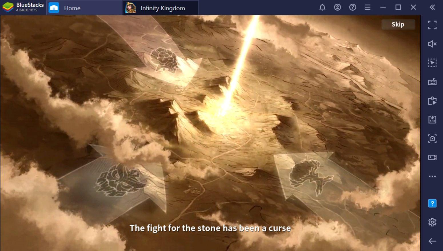 Comment jouer à Infinity Kingdom sur PC avec BlueStacks