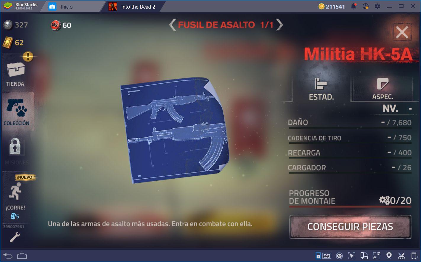 Cómo Desbloquear, Mejorar, y Optimizar tus Armas en Into the Dead 2