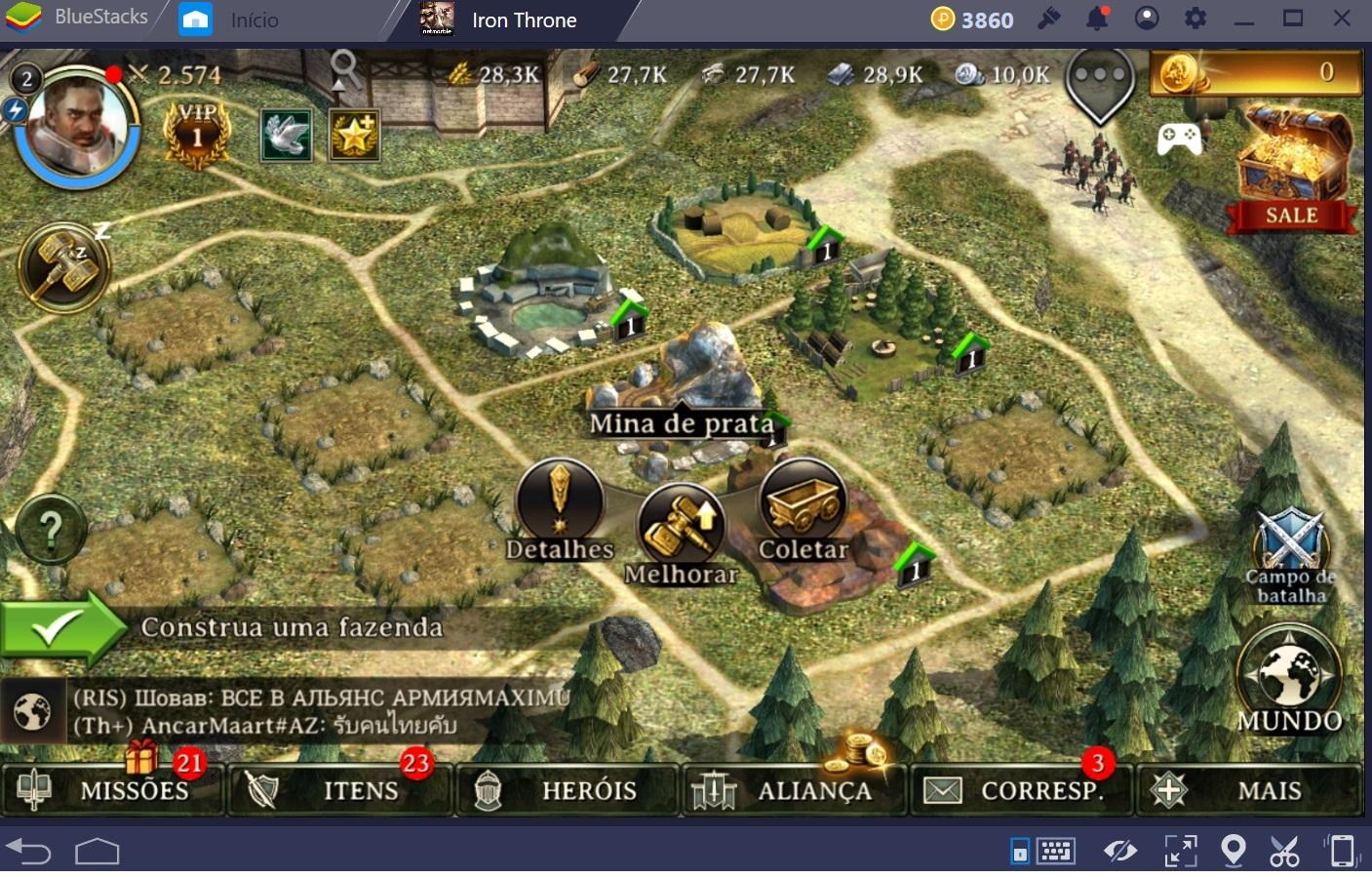 Guia de construções e recursos em Iron Throne