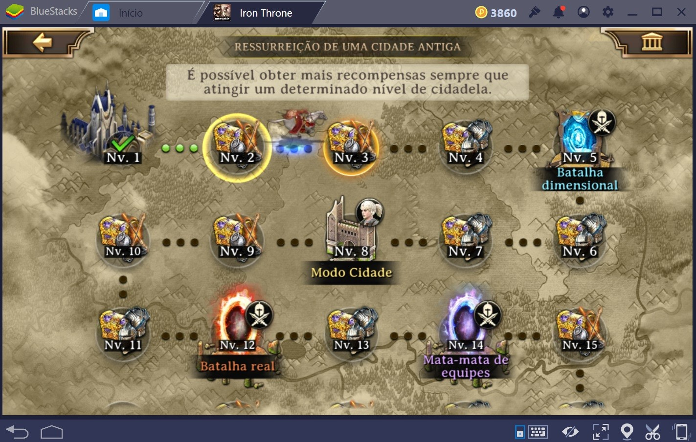 Guia de modos de jogo e batalha para Iron Throne