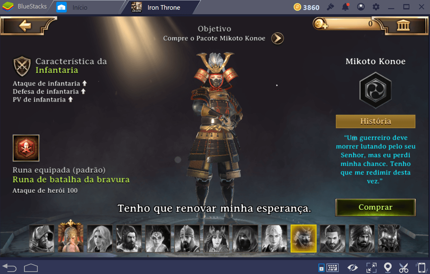 Guia de heróis em Iron Throne