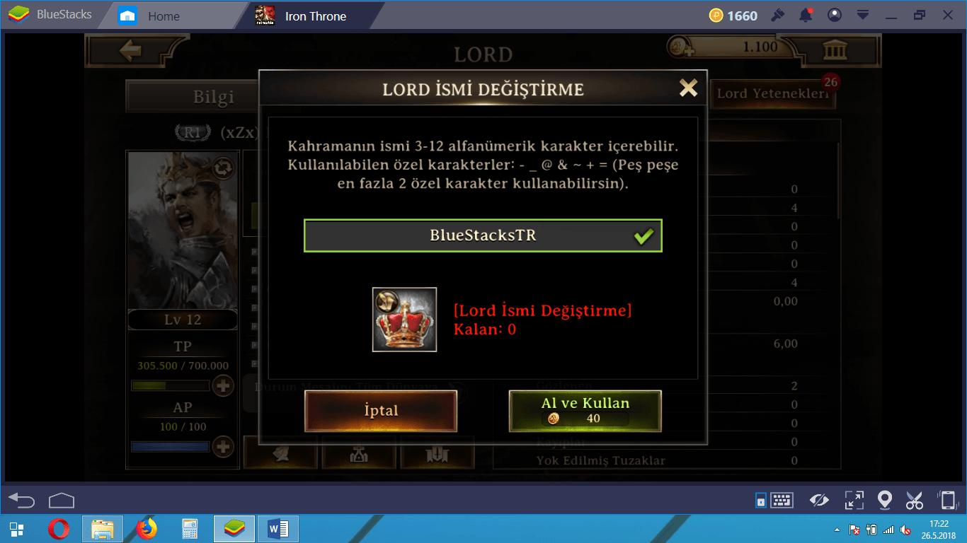 Iron Throne İpuçları ve Tavsiyeler