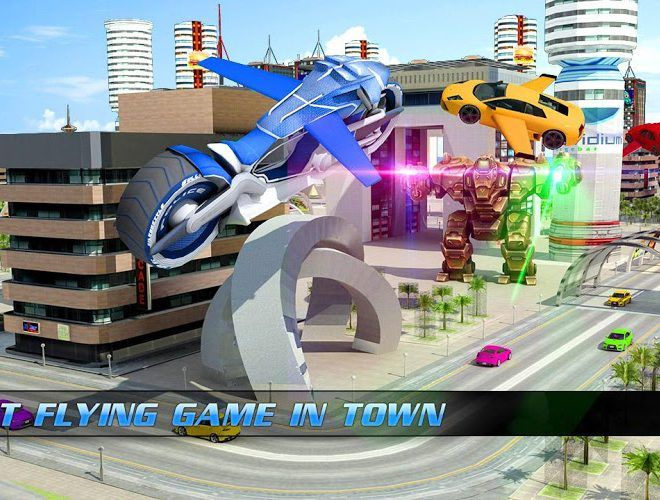 Play Flying Bike – Transformer Robot on PC 3