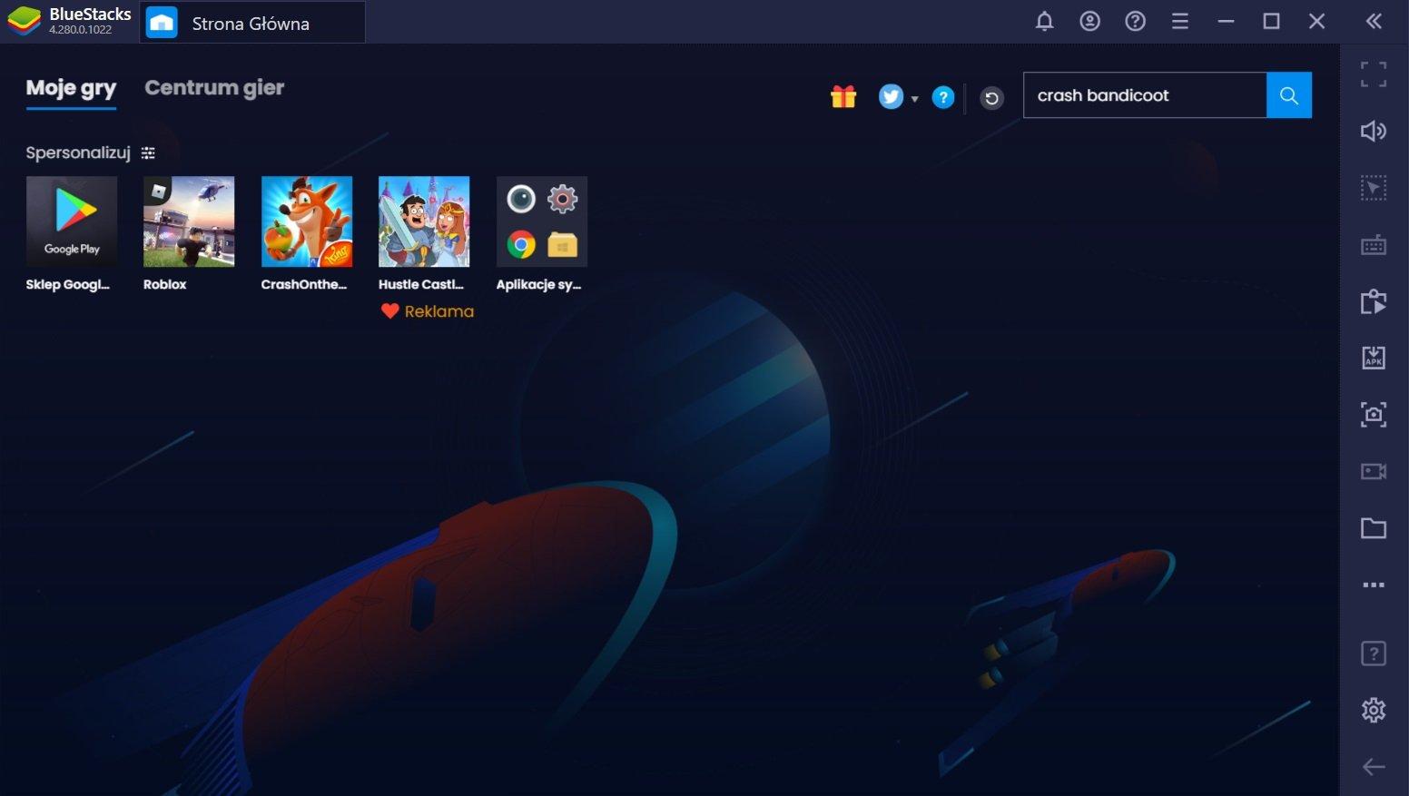 Crash Bandicoot: On the Run na komputerze PC przy użyciu BlueStacks