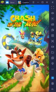 Wydajność w Crash Bandicoot: On The Run na BlueStacks