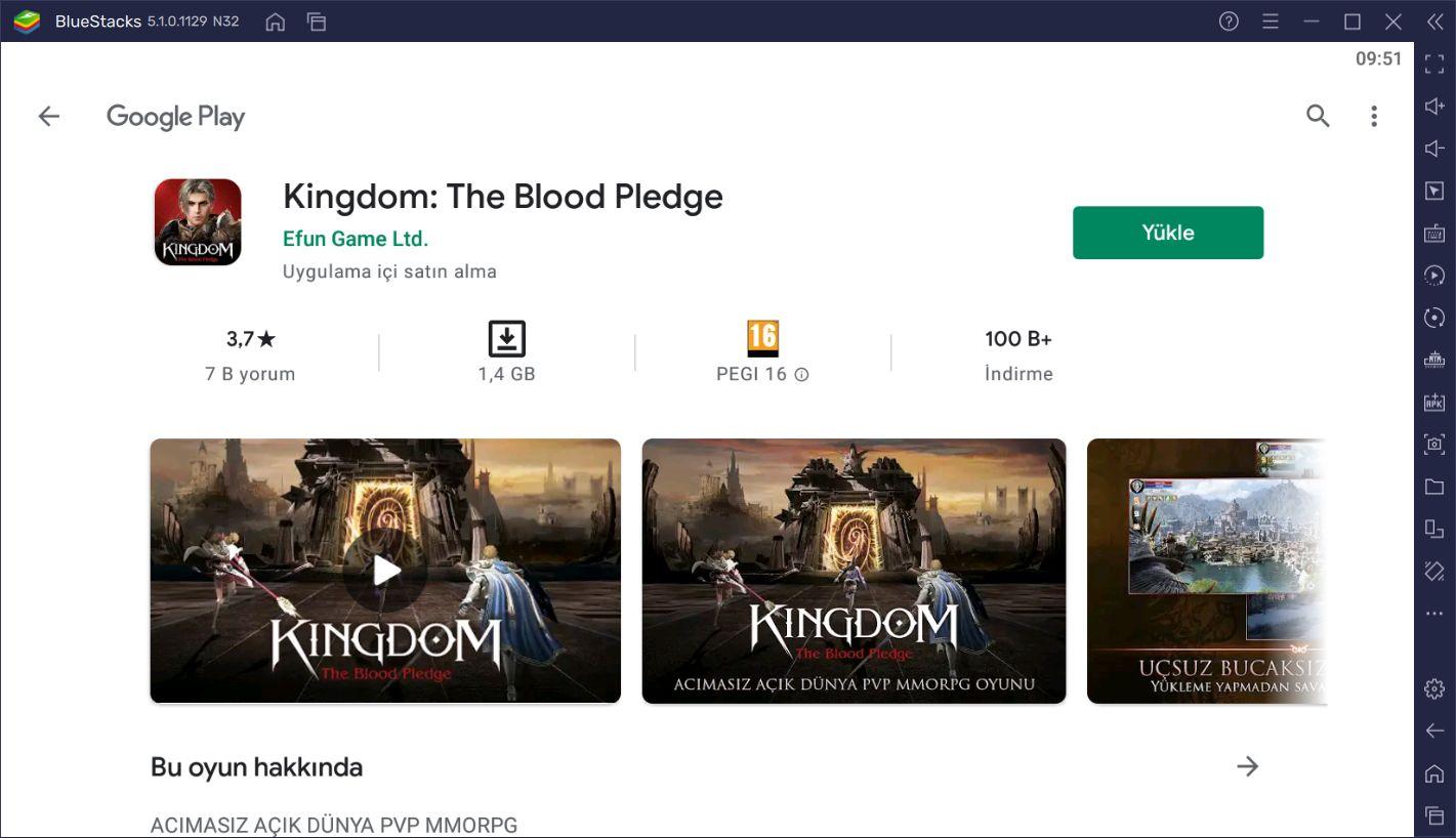 Kingdom: The Blood Pledge İçin BlueStacks Kurulum Rehberi
