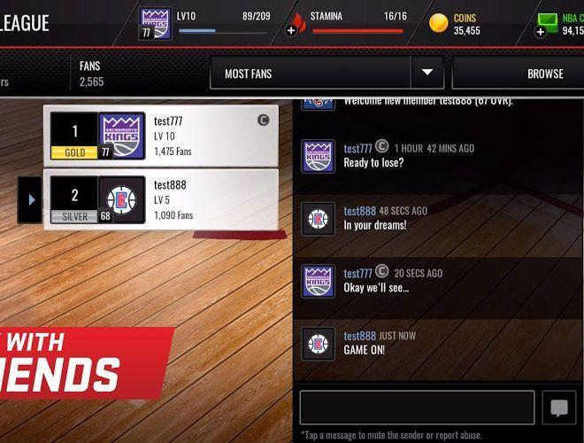 เล่น NBA LIVE Mobile on PC 7