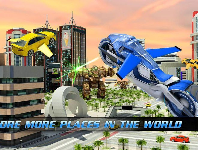 Play Flying Bike – Transformer Robot on PC 12