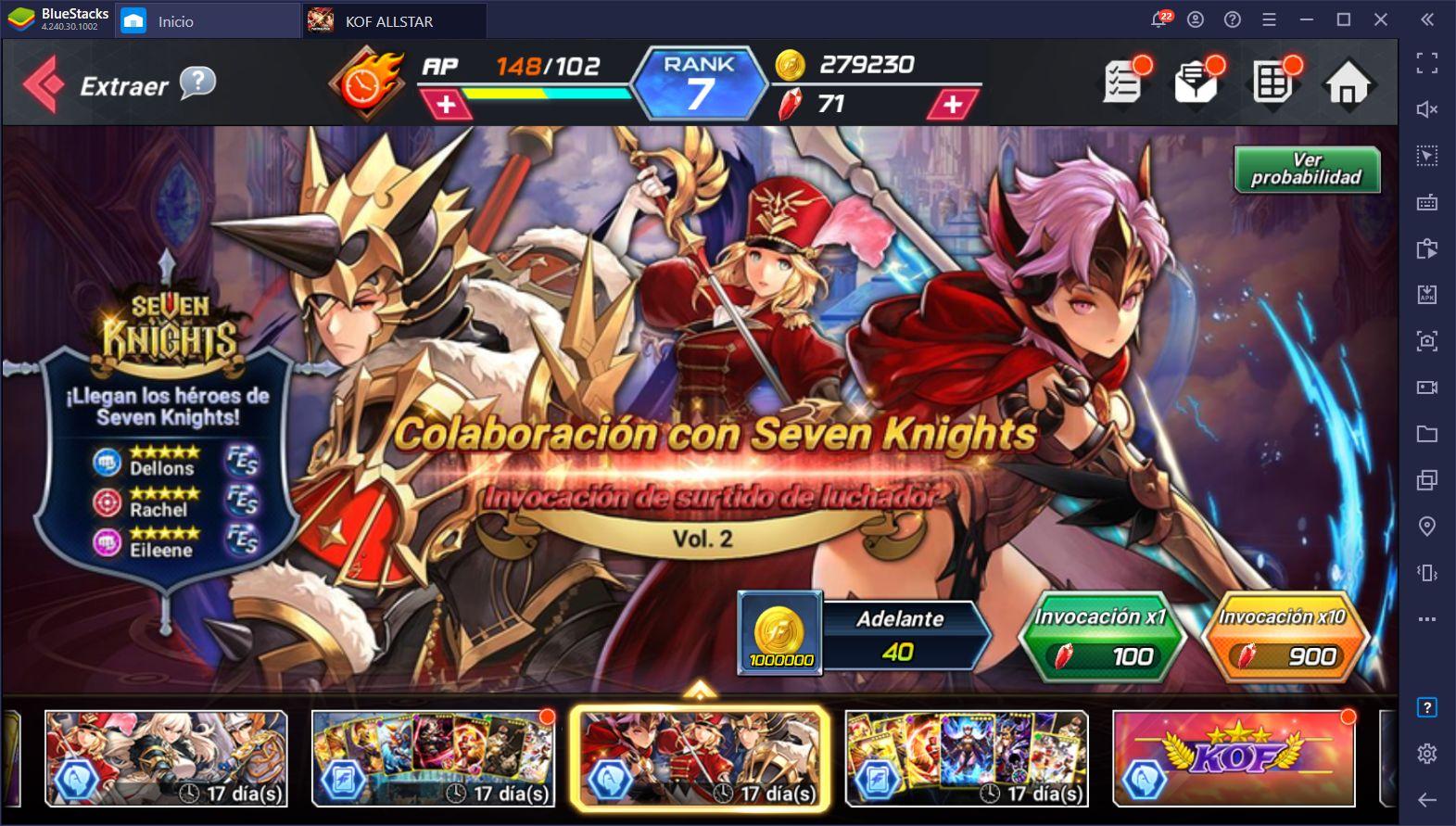 Evento de Colaboración KOF ALLSTAR x Seven Knights Llegará en Diciembre