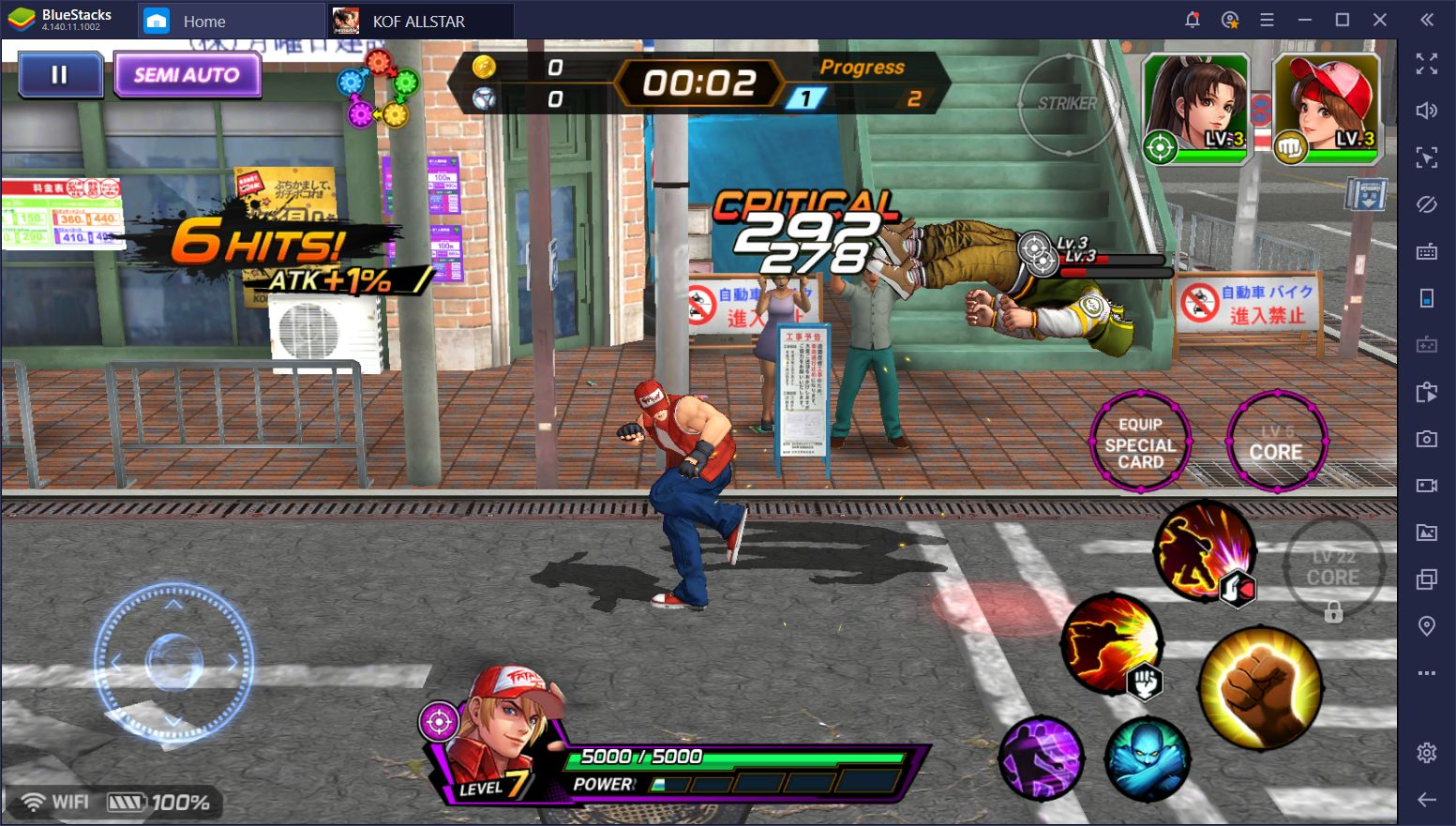 BlueStacks Kullanarak King of Fighters ALLSTAR PC'den Oynamak