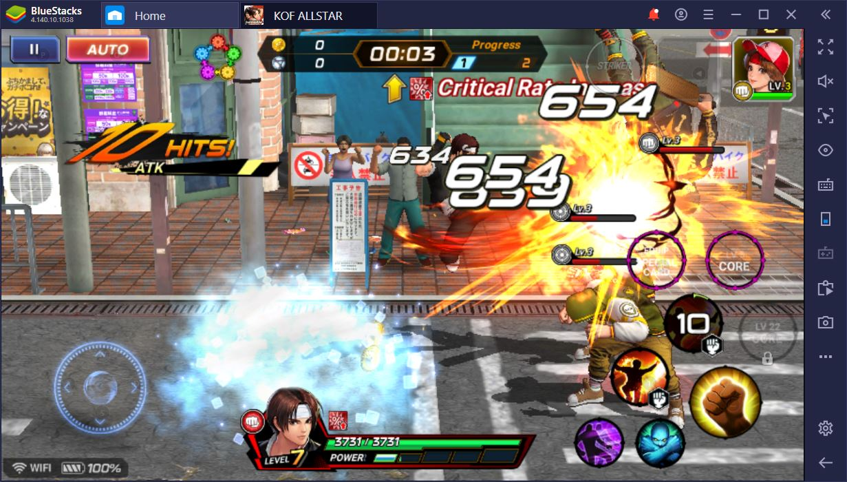 Fight with Burning Fists in The King of Fighters ALLSTAR on PC