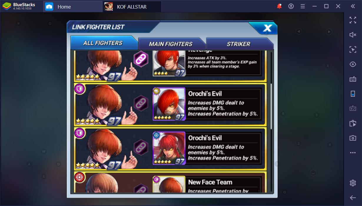 How to Come Up with the Best Team Compositions in The King of Fighters ALLSTAR on PC