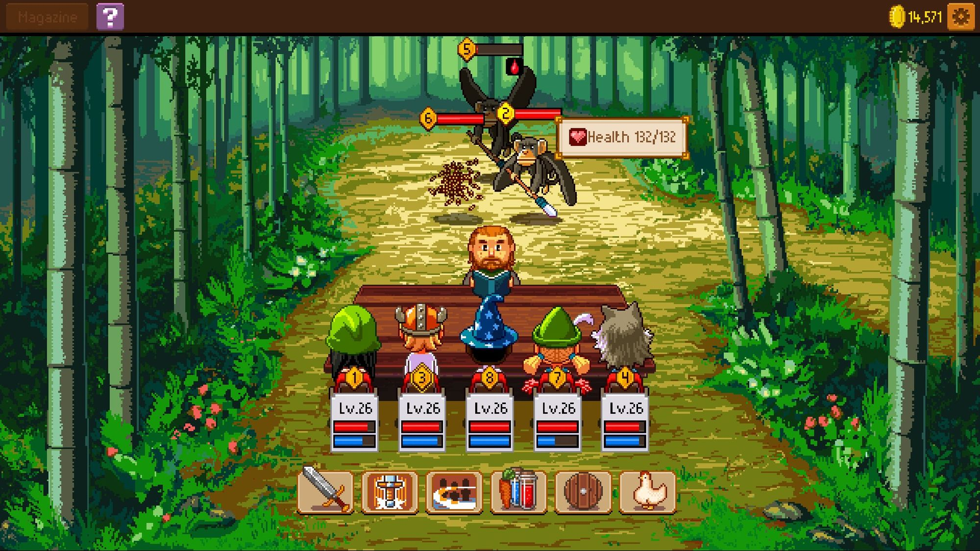 Knights Of Pen & Paper 2 Battle System