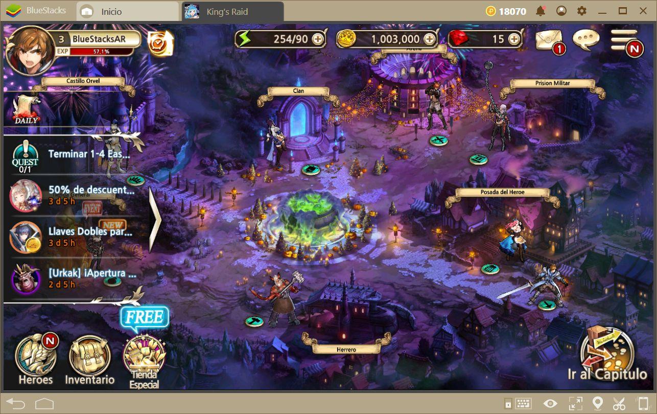 Guía Para el Modo Aventura en King's Raid