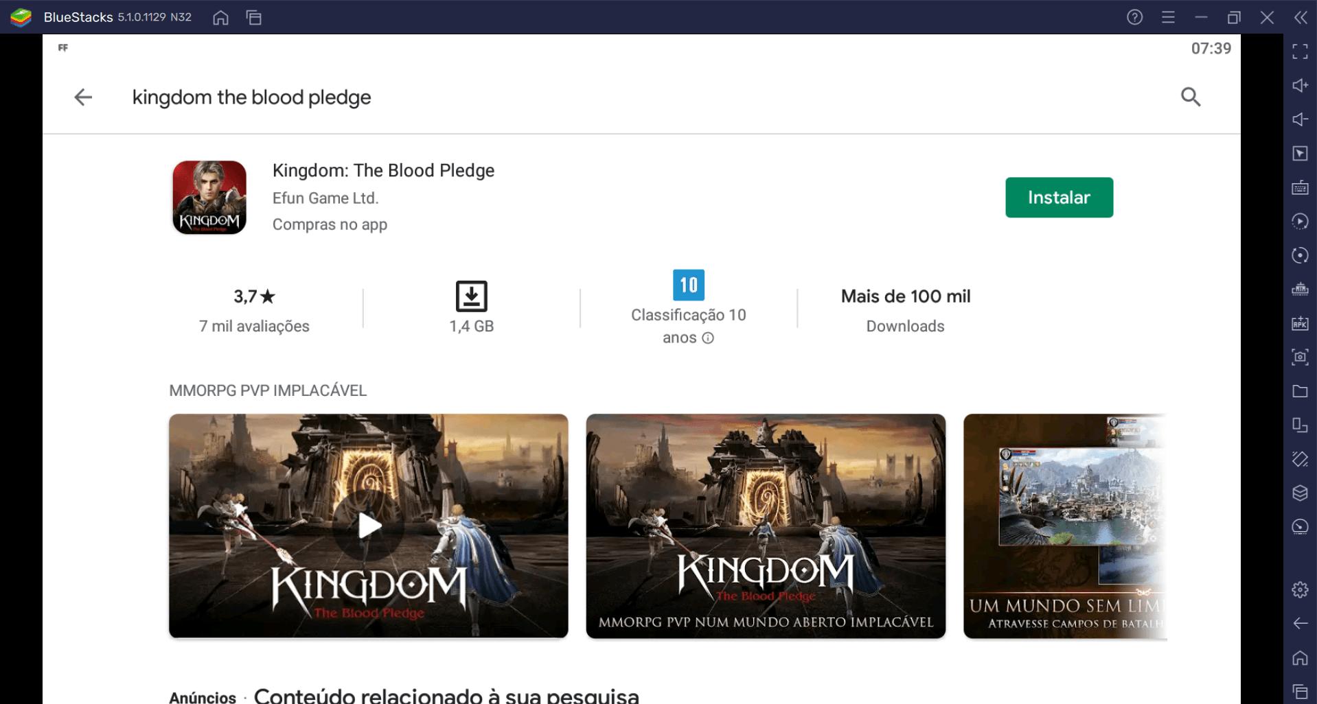 Como Baixar e Jogar Kingdom: The Blood Pledge no PC com BlueStacks