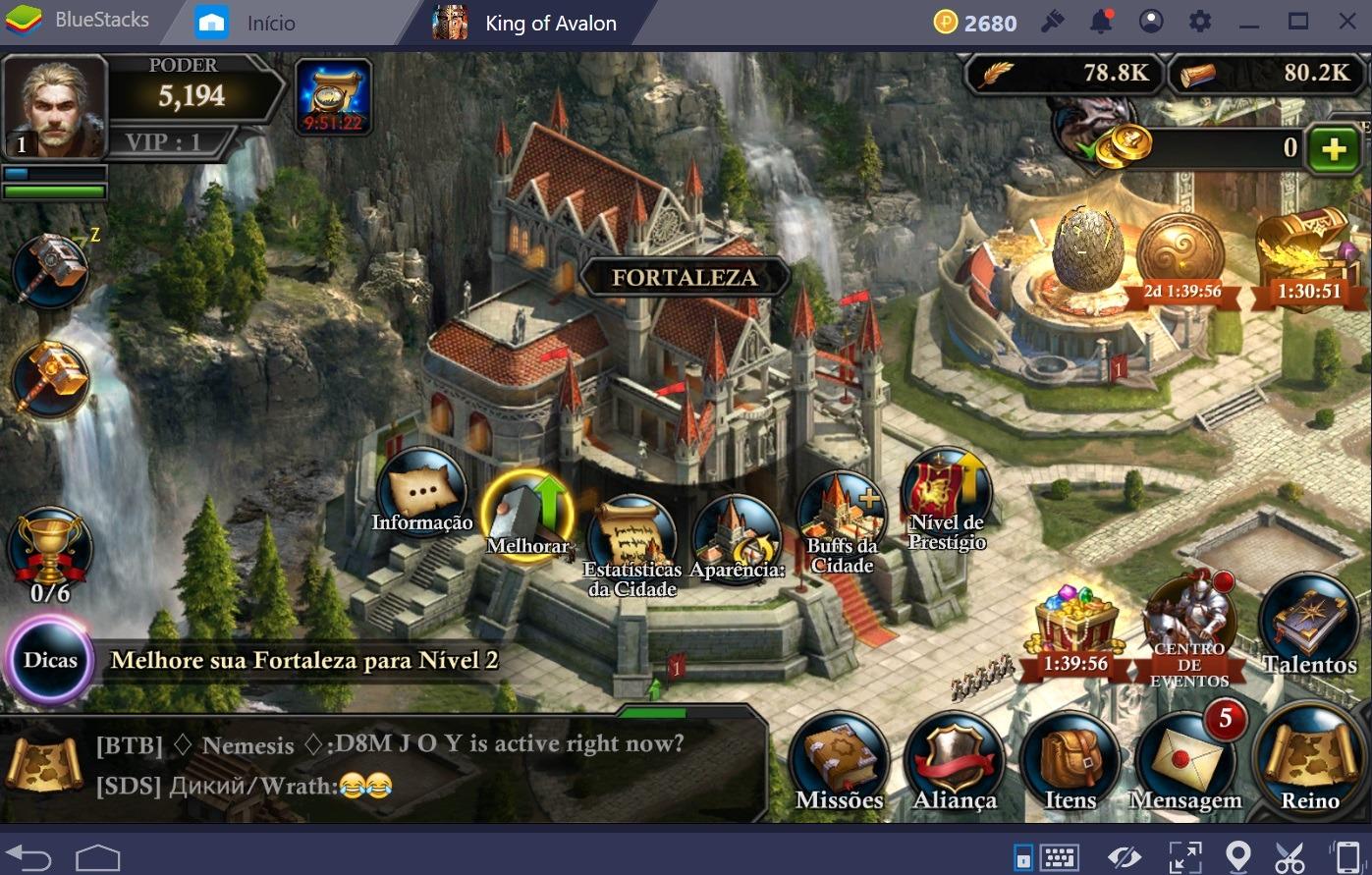 Guia para iniciantes em King of Avalon: Dragon Warfare