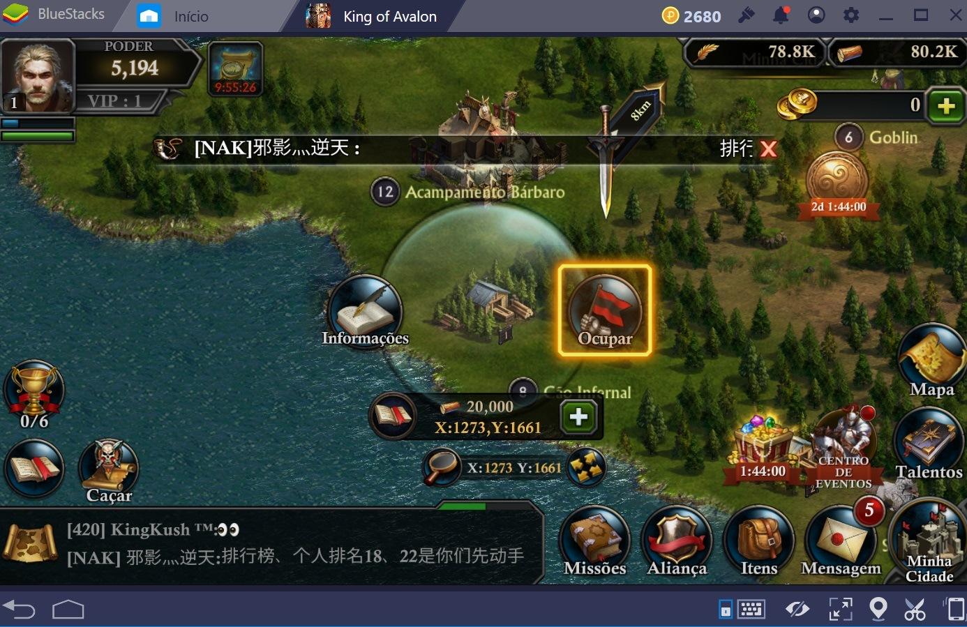 Guia de combate em King of Avalon: Dragon Warfare