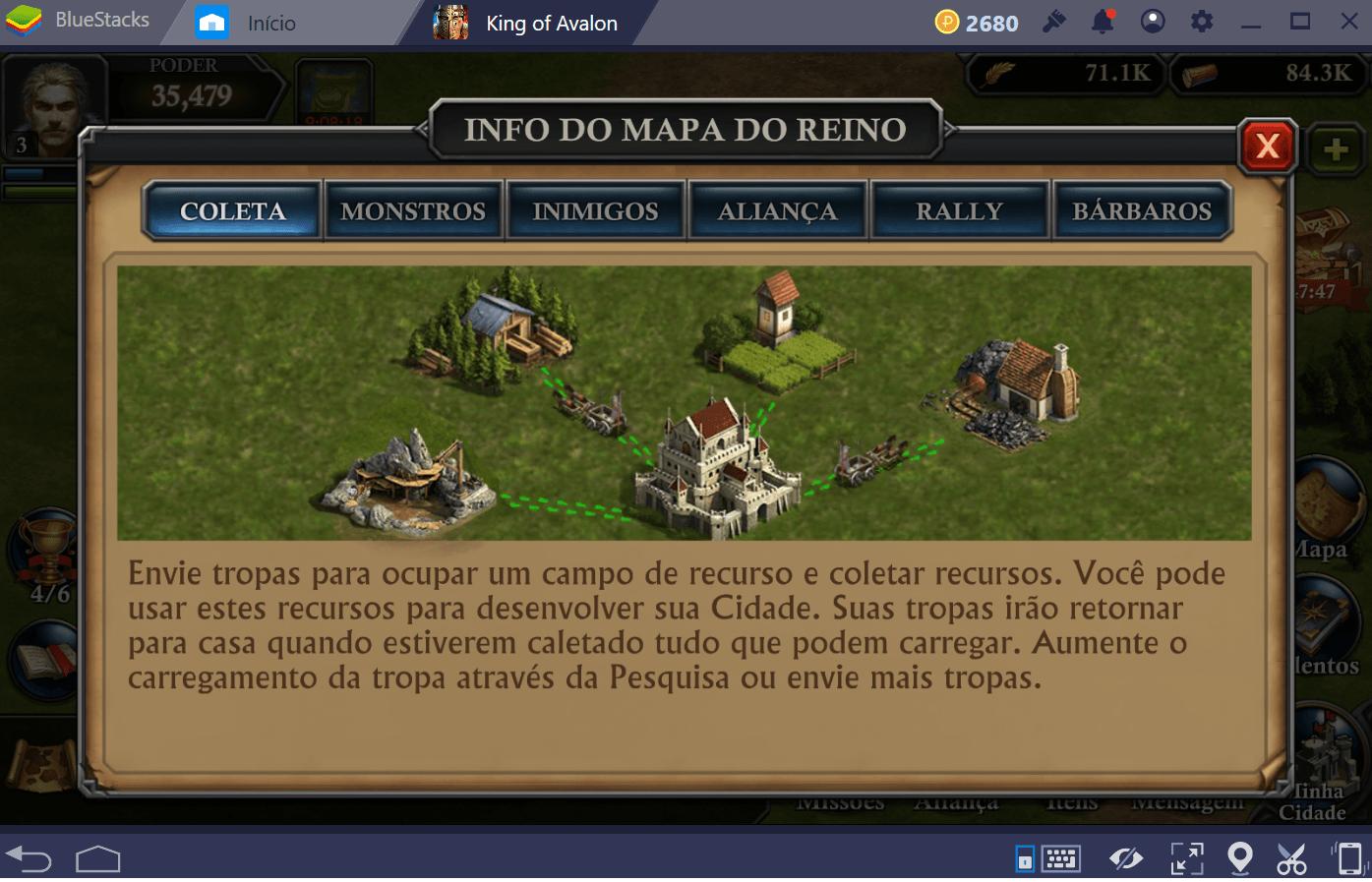 Como desenvolver seu reino rapidamente em King of Avalon: Dragon Warfare