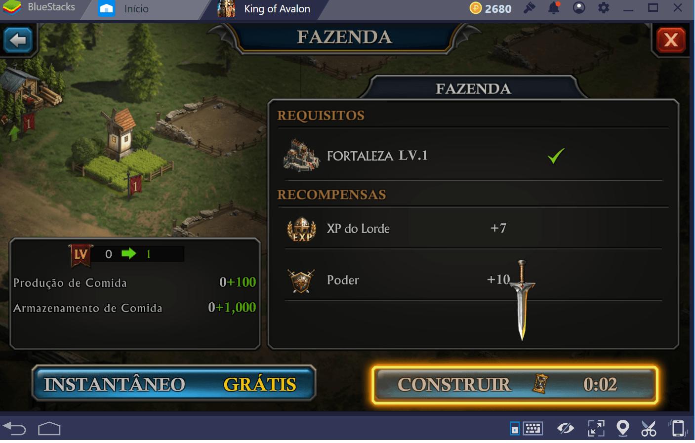 Guia de recursos em King of Avalon: Dragon Warfare