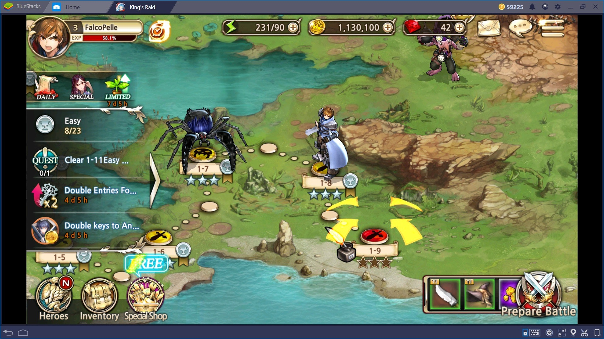 Gioca con Bluestacks a King's Raid: Setup e Controlli