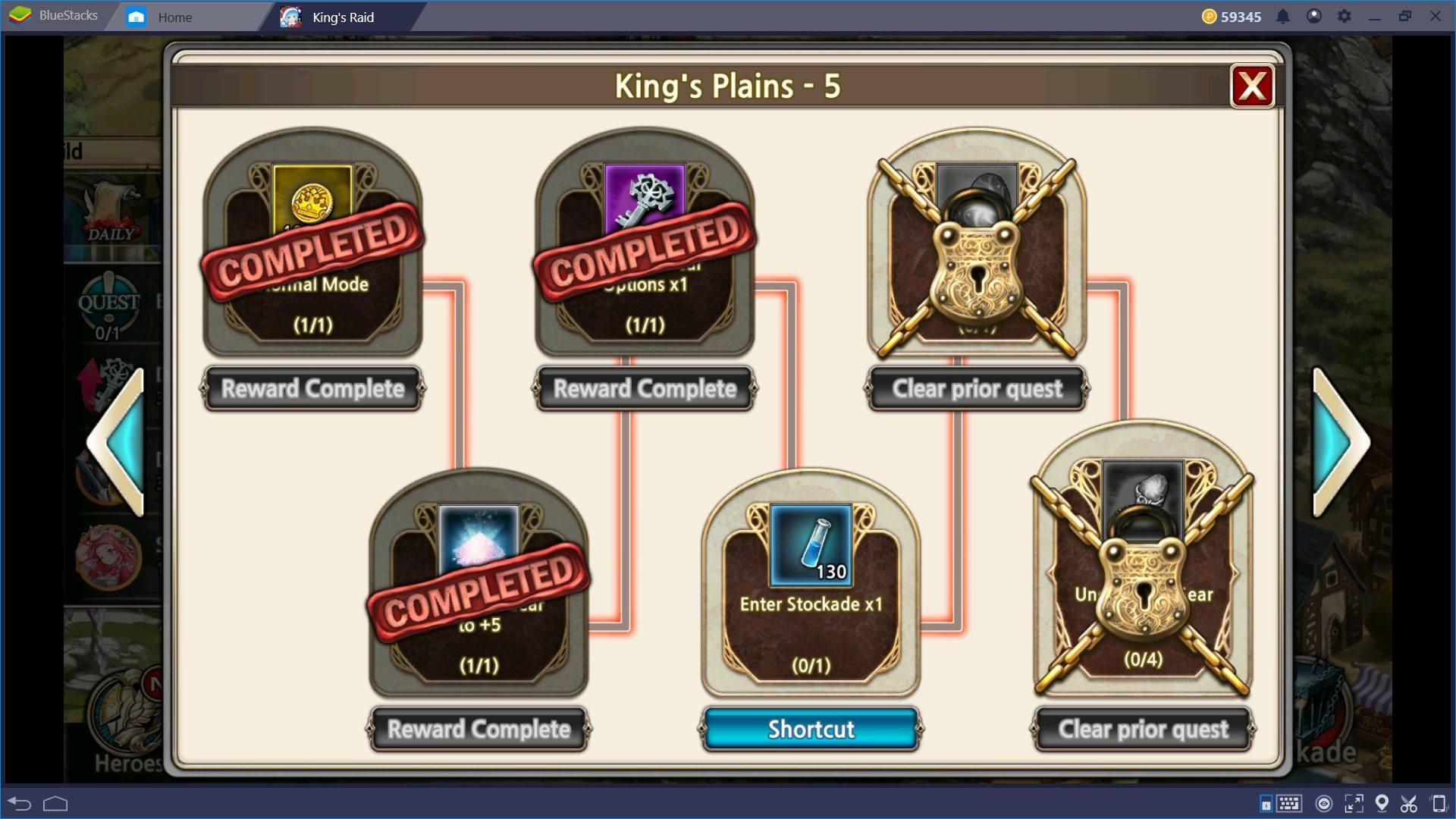 King's Raid: Guida al Level Up