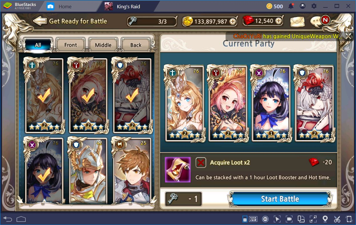 King's Raid: How to Build the Best Team | BlueStacks