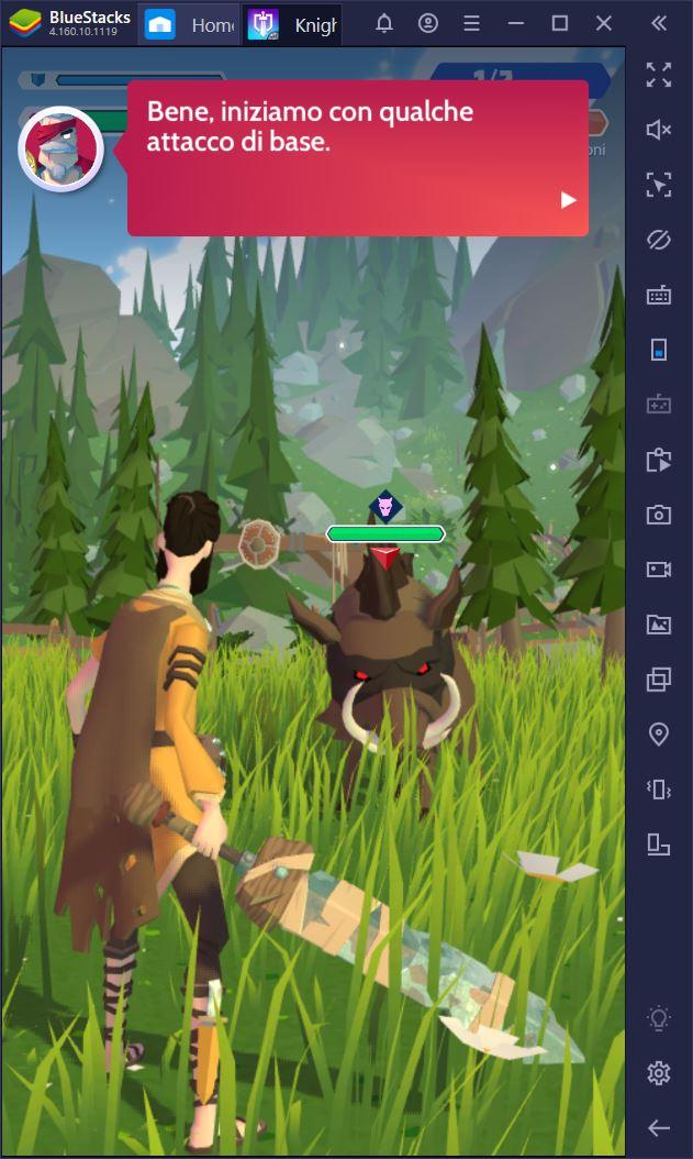 Knighthood è disponibile con Bluestacks – Un fantasy RPG imperdibile!