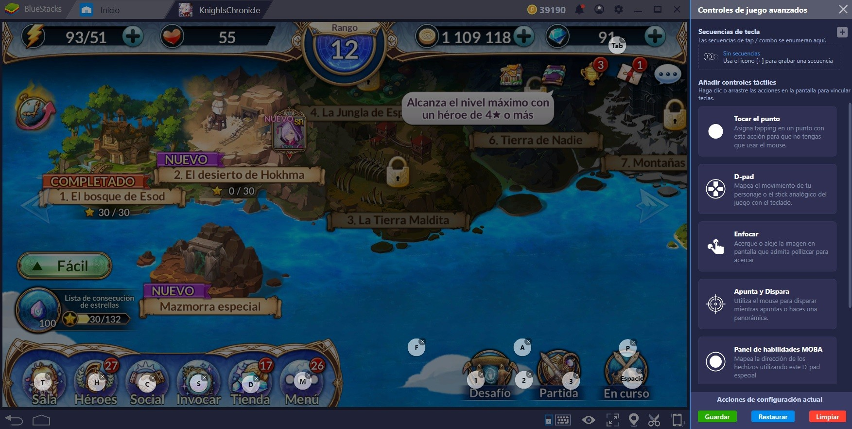 Cómo Acelerar tu Proceso en Knights Chronicle Usando BlueStacks