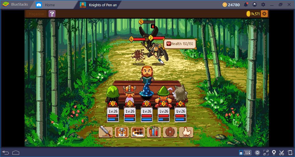 O sistema de combate de Cavaleiros de Caneta e Papel 2