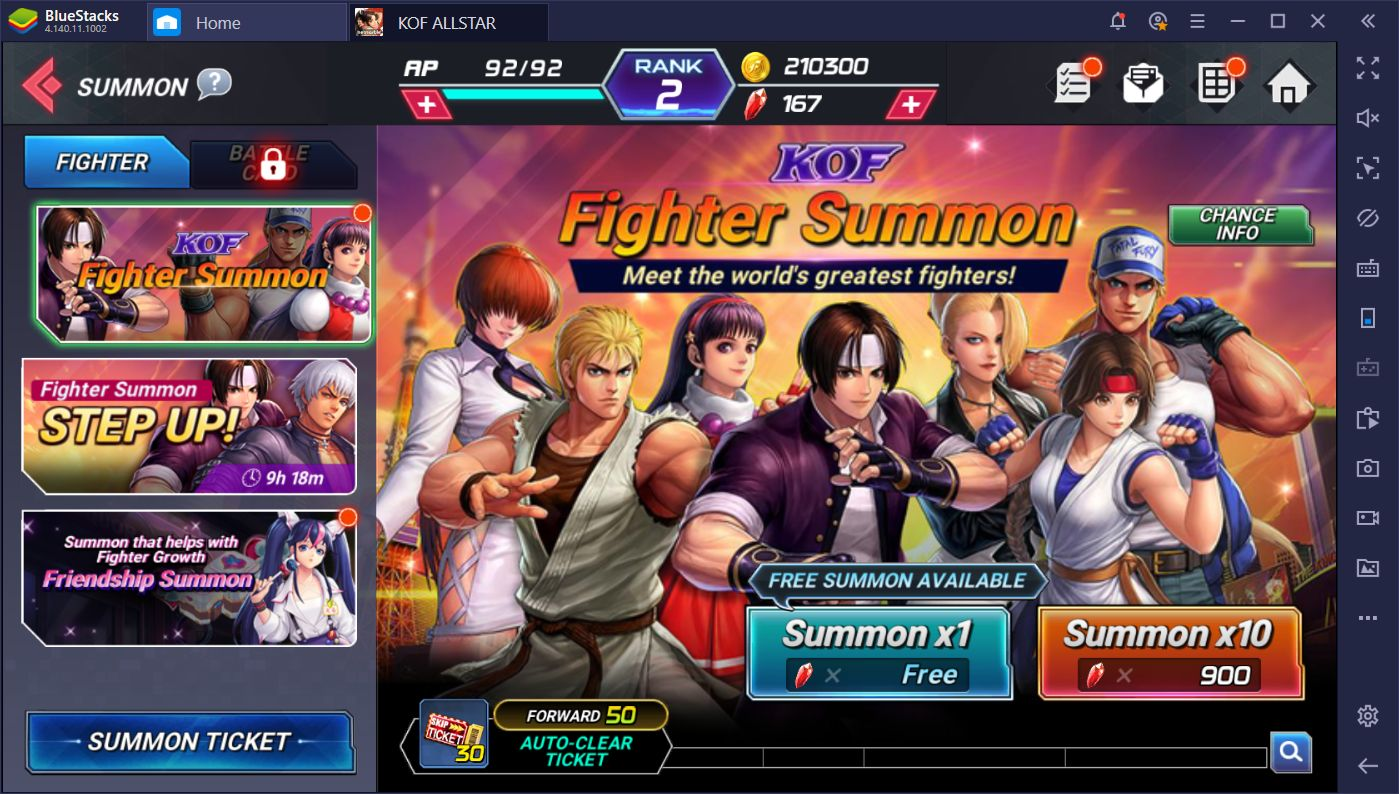 A Guide to Rerolling in King of Fighters ALLSTAR on PC Using BlueStacks