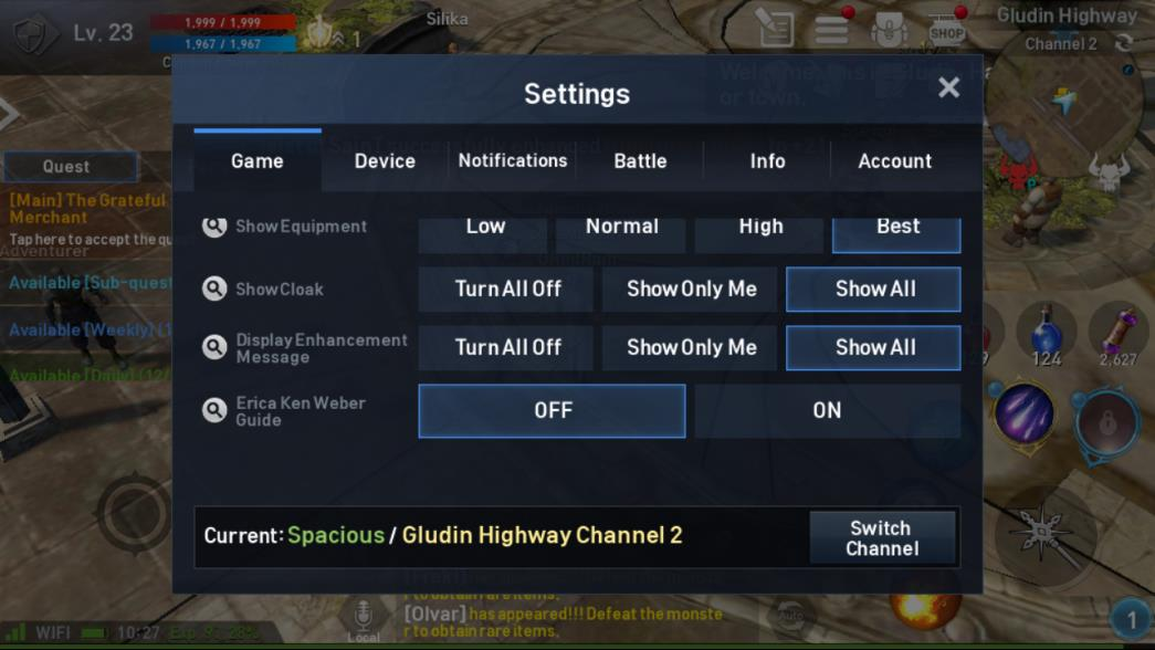 Lineage 2 Revolution Settings Image 3